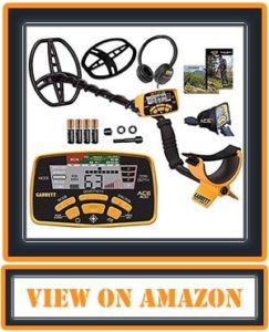 Garrett Ace 400 Metal Detector with a Waterproof Coil and Headphone Plus Accessories