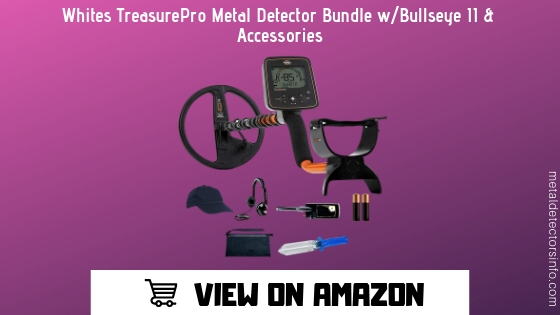 Whites TreasurePro Metal Detector Bundle Bullseye II & Accessories