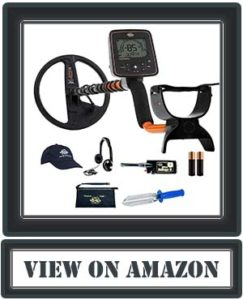 Whites Treasurer Metal Detector Bundle w/Bullseye II & Accessories